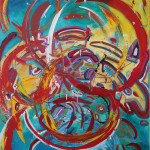 ANILLO DE FUEGO (60 x 48 Acrylic on Canvas)