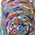 MONKEY MAN (48 x 36 Acrylic on Canvas)