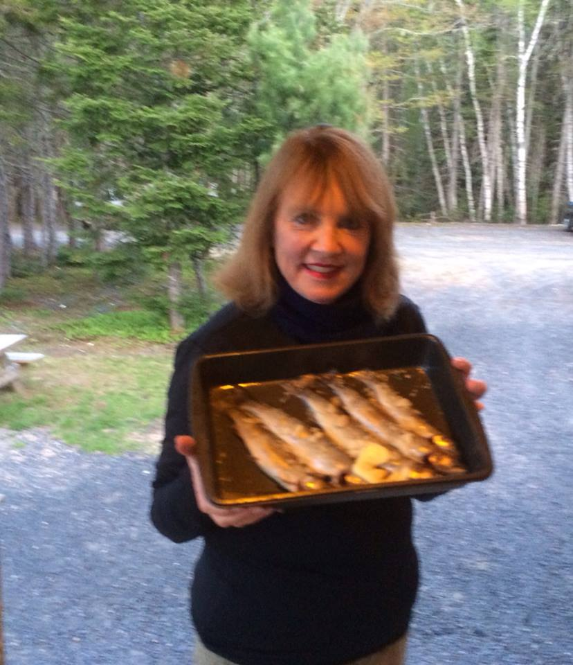 The author/artist with the Miramichi Catch! Canada June 2014