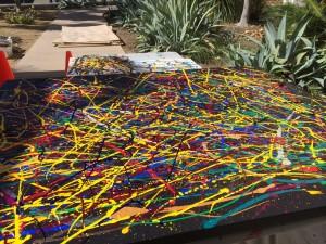 Art San Diego Painting In Progress On KUSI News