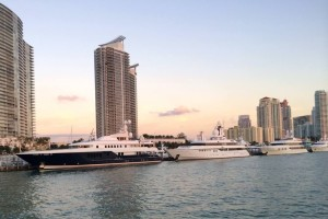 View From Our Boat In Miami Harbor