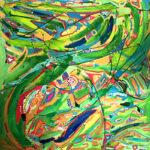 JOY (48x48 Acrylic on Canvas)
