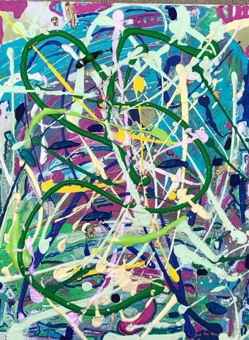Wisteria garden inspired art by Francesca Filanc.